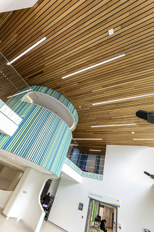solid wood linear ceilings
