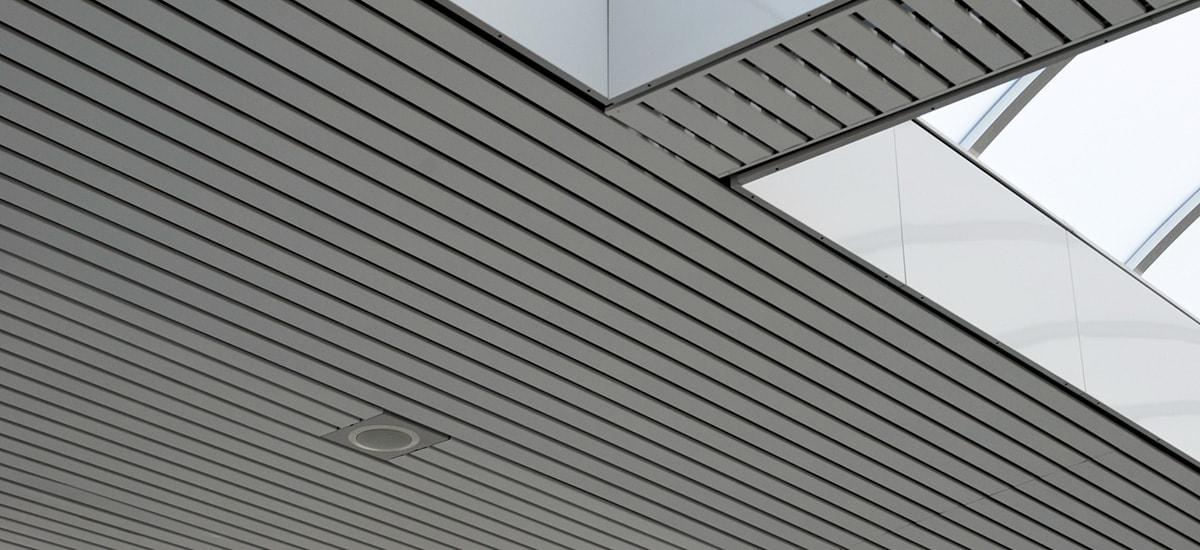 a Metal ceiling