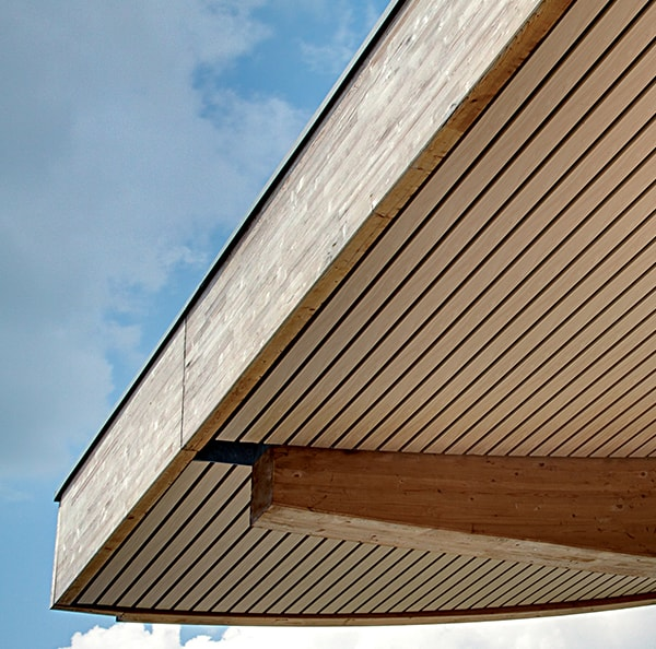 exterior wood ceilings hunter douglas rh hunterdouglasarchitectural eu  exterior wood ceiling planks