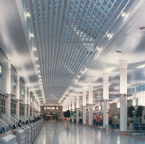 interior metal Linear Closed Ceilings